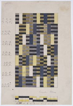 Anni Albers. Triple cloth design for wall hanging, 1926