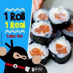 TODO DIA é dia de Happy Hour no Sushi Rão.  1 Roll por apenas 1 Real ❤!   PARA PEDIDOS ACIMA DE R$ 70,00, GANHE 50% DE DESCONTO NO HARUMAKI DOCE.  Faça o seu pedido por inbox 📩 ou por telefone 📱  👉 Aceitamos cartões de débito e crédito!  *Consulte os rolls da promoção *Consulte os rolls disponíveis. ** Taxa de entrega não incluída. ***Promoção válida para pedidos múltiplos de 6 unidades. Sushi Rão, o Maior Delivery de Sushi do Rio de Janeiro!