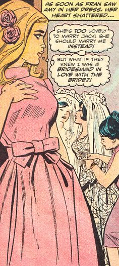 """archie-edits:  """"The Bridesmaid"""" from Secret Romance #15 (1971) by Charlton Comics"""