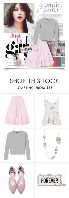 """""""Sweet and Sensible...the Forever Look!"""" by berry1975 ❤ liked on Polyvore featuring Maje, Monki, Chanel, Kate Spade, Rebecca Minkoff, Sweater, flats, katespade and tulle"""