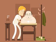 Seinfeld Fan Gif - George Gets a Massage