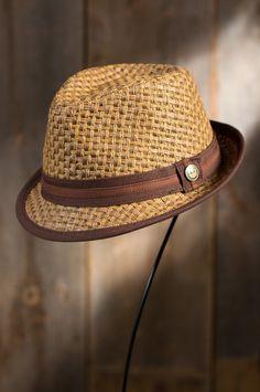 Eric B Goorin Brothers Straw Fedora Hat #79756