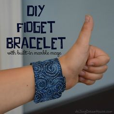 de Jong Dream House: DIY Fidget Bracelet with Built in Marble Maze I actually bought one from de Jong Dream House instead of making one. Sent it to school with my nephew so we'll see how it does at keeping his little chatty mouth closed. Diy Fidget Toys, Fidget Tools, Diy Toys, Dementia Activities, Sensory Activities, Autism Sensory, Sensory Diet, Sensory Play, Diy Sensory Toys