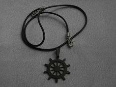 Black Steampunk Stainless Steel Necklace by CustomCraftJewelry