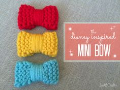 Just B Crafty: The Disney Inspired Knit Mini Bow