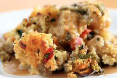 As seen on Mark's Daily Apple, voted best recipe it's back another year! It's the Best Ever Paleo Thanksgiving Stuffing Recipe by Raf of Between Two Forks! Paleo Thanksgiving, Thanksgiving Side Dishes, Thanksgiving Stuffing, Paleo Cornbread, Cornbread Stuffing, Sausage Stuffing, Paleo Stuffing, Homemade Cornbread, Recipes