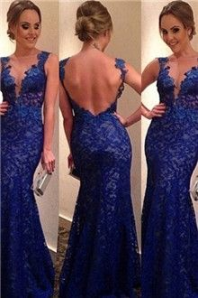 Prom Dress For Teens, Stylish Trumpet/Mermaid Sleeveless Applique V-neck Sweep Train Lace Dresses cheap prom dresses, beautiful dresses for prom. Best prom gowns online to make you the spotlight for special occasions. Blue Lace Prom Dress, Prom Dresses Blue, Cheap Prom Dresses, Lace Dresses, Pretty Dresses, Beautiful Dresses, Formal Dresses, Dress Lace, Dress Prom