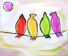 impressionist, painting, still life, birds, modern, art