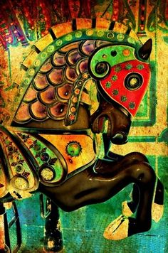 Funky Horse by Patty Vicknair in OriginalDigitalArt on Patty Sue O'Hair Vicknair = PSOVART's Store