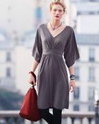 Flutter-Sleeve Knit Dress