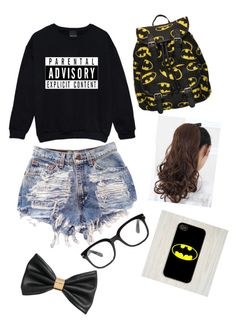 """""""Batman"""" by lexmusic-lover ❤ liked on Polyvore featuring Forever 21, Samsung and H&M"""