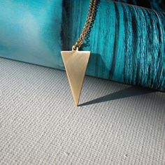 THE HUNTRESS  vintage brass  long chain  layering by BluHour, $38.00