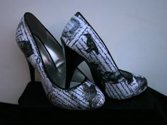 Edgar Allan Poe Heels Poe Shoes Raven Heels Raven by LeadFootLucy