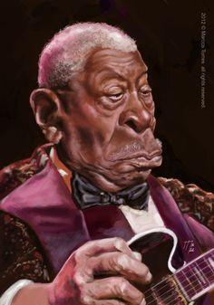 B.B.King caricature by jupa1128.deviantart.com on @deviantART