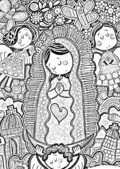 Dibujos Católicos : Virgencita Plis distroller para colorear, pintar e imprimir @lkersovanic @emmapinson4