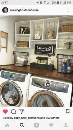 Love These Ideas For The Laundry Room....  #RemodelingIdeasfortheHouse #Decoratingbathrooms
