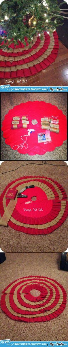 Burlap Tree Skirt | DIY | DIY & Crafts
