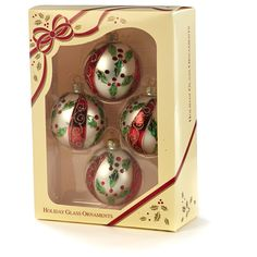 Decorated Boxed Glass Ornaments