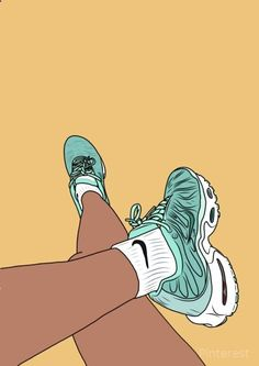 Sneakers Wallpaper, Shoes Wallpaper, Nike Wallpaper, Wallpaper Iphone Cute, Wallpaper Backgrounds, Black Girl Art, Art Girl, Small Canvas Art, Photo Vintage