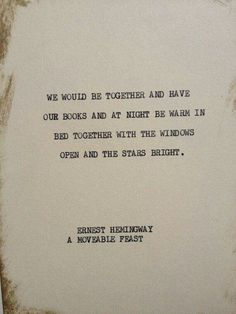 Ernest Hemingway. A Moveable Feast
