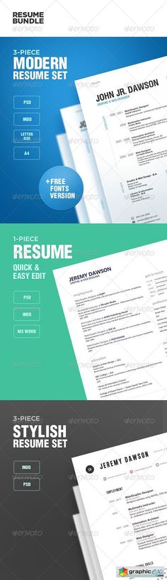 Add some flare on your job application by using any resume psd - post resume