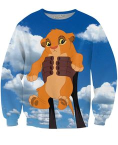 This product is made-to-order. This may be purchased today, but will be shipped from our facility within 25 days. Get cozy in this Simba Crewneck Sweatshirt, perfect for any Disney fan!! This jumper f