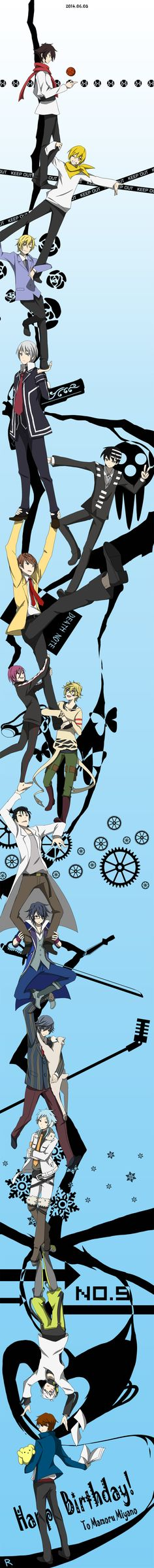 Durarara!! Ending - Trust me - Miyano Mamoru edition by ルナ on pixiv // THAT. THAT IS ALLOT OF A CROSSOVER. OKAY.