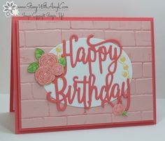 I used the Happy Birthday Gorgeous stamp set bundle form the upcoming Stampin' Up! 2017-18 Annual Catalog to create my card to share with you today. I started by embossing a panel of Powder P…