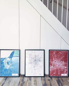 Mujumaps - Blue - B/W - Red - 50x70cm Create your own map here: http://www.mujumaps.com