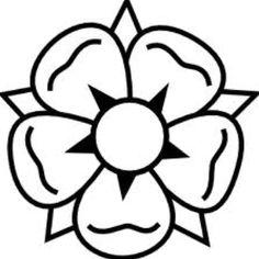Simple Tudor rose emblem