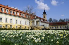 The baroque palace of Castle Hotel Château Béla in South-Western Slovakia in spring www.schlosshotels.co.at/en/bela