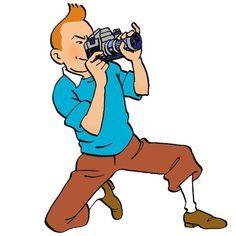 1969 • L'œil du reporter. Illustration pour la « Carte de Presse Tintin » du « Journal Tintin ».: