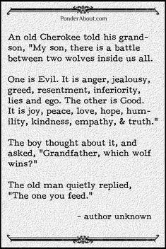 always feed the good.