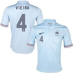 France #4 Patrick Vieira White Away Soccer Country Jersey! Only $21.50USD