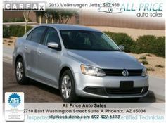 For Sale 2013 Volkswagen Jetta Price: $12,988   Tags: used, cars, for, sale, volkswagen, jetta, phoenix, az, arizona, car, dealership, in