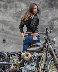 Image may contain: 1 person, motorcycle and outdoor mädchen Motorbike Girl, Scooter Motorcycle, Lady Biker, Biker Girl, Old Motorcycles, Hot Bikes, Biker Chick, Car Girls, Sexy Cars