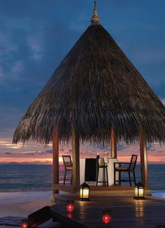 We've saved this table for the two of you at @Four Seasons Resorts Maldives