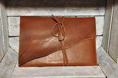 Leather case portfolio macbook handmade leather by GOMAleatherwork