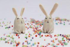 porcelain rabbit figurine