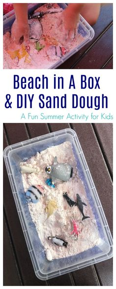 Beach In A Box & DIY Sand Dough    The Chirping Moms