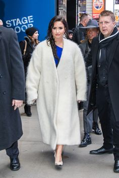 """January 24: Demi Lovato outside the Good Morning America studios in New York City, NY """