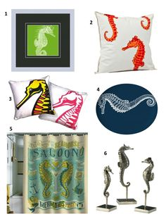 Rookie Jensine loves beach decor!! I'm sure she would love to have these seahorse's in her house!