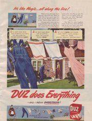 1947 Duz Laundry Detergent Wash Suds Ad