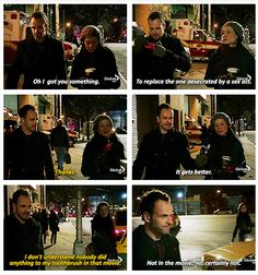 Aaaaand that's how THEIR friendship started. Elementary Tv Show, Elementary My Dear Watson, Great Tv Shows, New Shows, Sherlock Holmes Elementary, Jonny Lee Miller, Private Investigator, Tv Show Quotes, It Gets Better