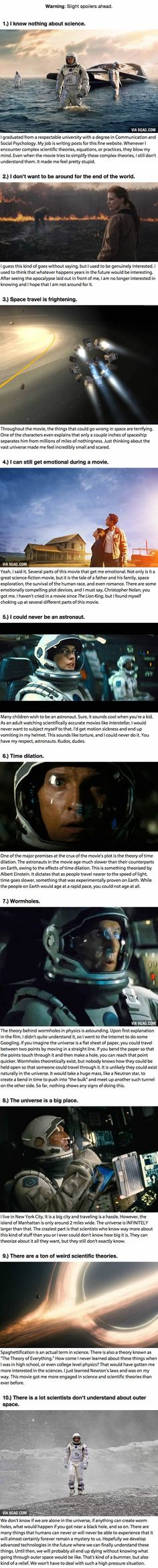 10 Things I Learned From Watching Christopher Nolan's Interstellar