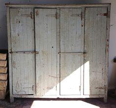 T h e V i t r i n e: s o l d - antique french wooden locker