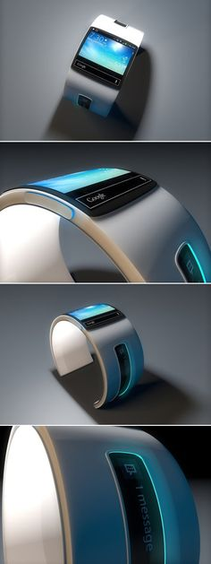 This device seems to be a Google watch and this nifty unit has a very interesting bracelet, that looks very much like a fashion accessory.  Inside this watch we could have a dual core Snapdragon 400 CPU, 1 GB of RAM and 8 GB of storage.