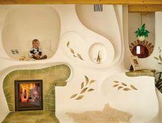 Kemencék: Beautiful Hungarian Home Furnaces Organic Architecture, Beautiful Architecture, Architecture Design, Cob House Plans, Home Furnace, Stair Shelves, Sauna Design, Unusual Homes, Earth Homes