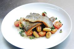 Classic Pan Seared Trout: Don't go out for trout! Try Christophe's version with potato gnocchi, cherry tomatoes, and a vibrant white wine sauce.