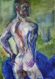 Rainer Fetting - Russian Poet (Slava exposing his ass to the universe), Oil on Jute, 200 x 140 cm. //at Egbert Baqué Contemporary Art, Berlin: Take A Walk On The Wild Side. To Russia with Love. And to Lou Reed. Bad Painting, Rainer Fetting, Russian Poets, Contemporary Art, German, Portrait, Gallery, Drawings, Jute